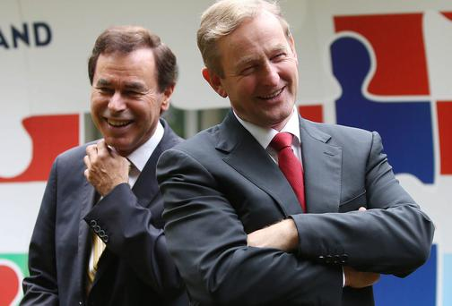 Taoiseach Enda Kenny and Alan Shatter