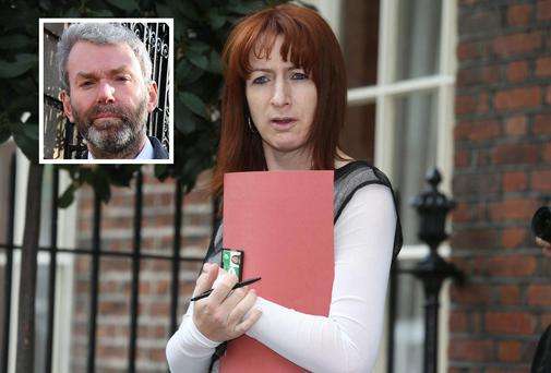 Clare Daly (inset) and whistleblower John Wilson