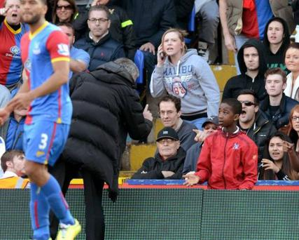 Incident happened in the closing stages of the Blues defeat at Selhurst Park