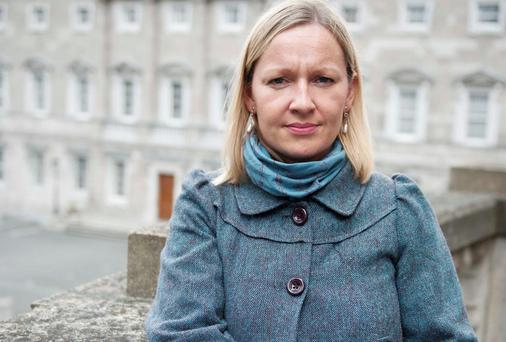 Baby on board: Lucinda Creighton