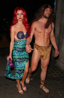 Una Foden and Ben Foden attend Rochelle Humes' Disney themed birthday party at Steam and Rye restaurant and club