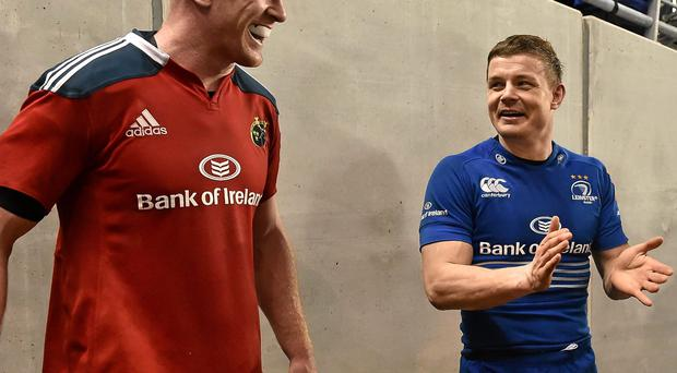 Brian O'Driscoll, Leinster, and Paul O'Connell, Munster