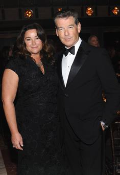 Keely Shaye Smith and actor Pierce Brosnan