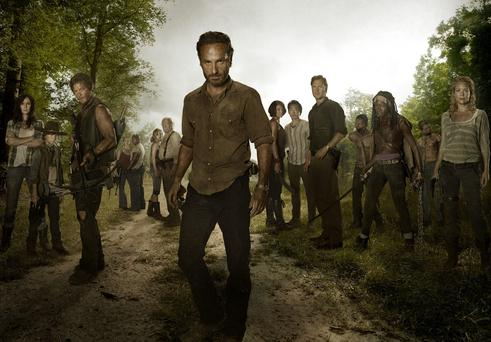 The cast from the Walking Dead