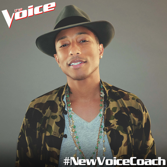 Pharrell Williams has been unveiled as a new judge