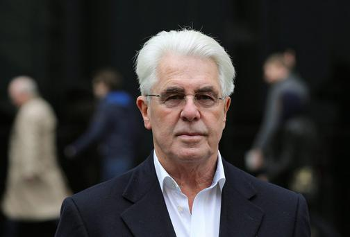 Max Clifford has denied being a pervert Photo: CRIME LAW MEDIA.
