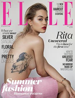 Rita Ora covers the latest edition of Elle UK
