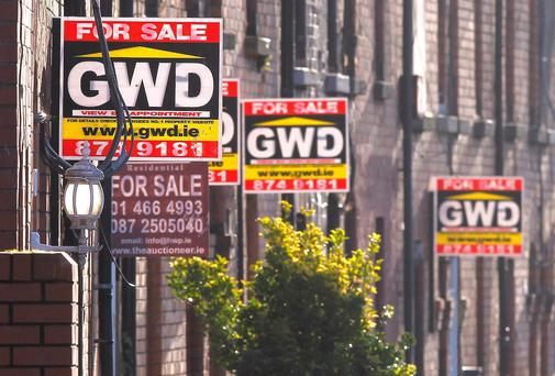 What the latest surge in house prices shows is that the Irish property market is still not functioning properly. Photo: Frank McGrath.