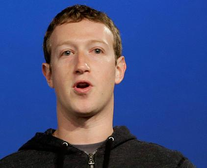 Facebook founder and CEO Mark Zuckerberg. Photo: AP