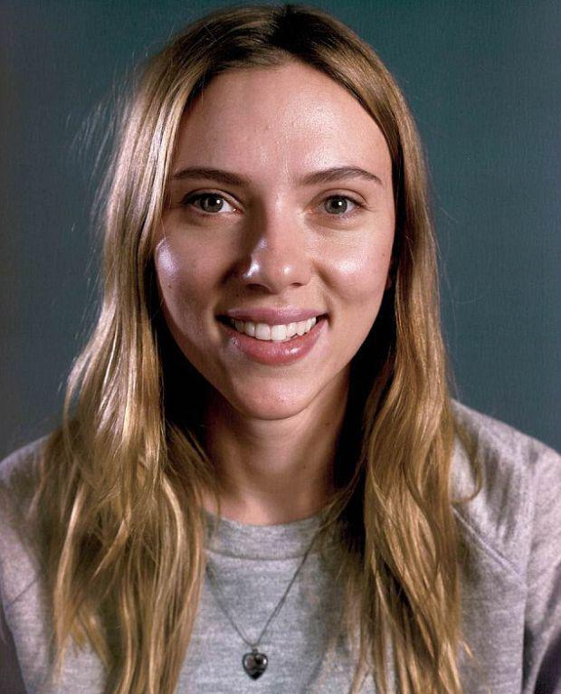Scarlett Johansson went makeup free for Vanity Fair