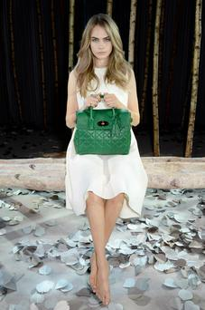 Cara Delevingne and Mulberry S/S '14