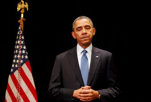 US President Barack Obama said he was 'heartbroken' that another shooting had occurred at the Fort Hood Army base and described the situation there as fluid. Photo: Reuters