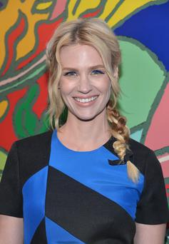 """Actress January Jones attends the AMC celebration of the """"Mad Men"""" season 7 premiere at ArcLight Cinemas on April 2, 2014 in Hollywood, California. (Photo by Alberto E. Rodriguez/Getty Images)"""