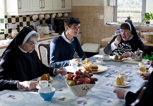 Donal Skehan with the Benedictine nuns of Kylemore Abbey.