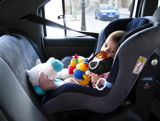Stock image of a toddler in a car seat. Photo: Getty
