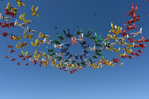 Skydiving is often used a to raise money for charity