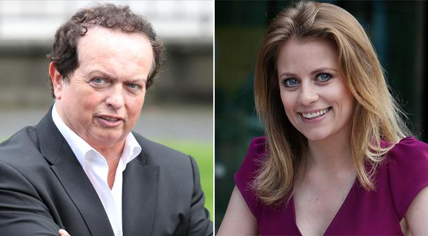 RTE's Marty Morrissey and Sky presenter Rachel Wyse