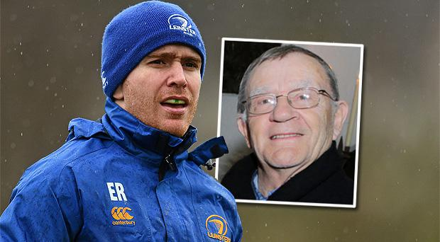 Leinster rugby scrum half Eoin Reddan. Inset: His father Don