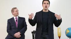 An Taoiseach, Enda Kenny, TD, with Brian Chesky, co founder and chief executive of Airbnb