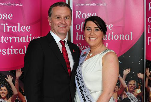 Dorothy Moriarty Henngeler with Daithi O'Se during the 2011 Rose of Tralee festival