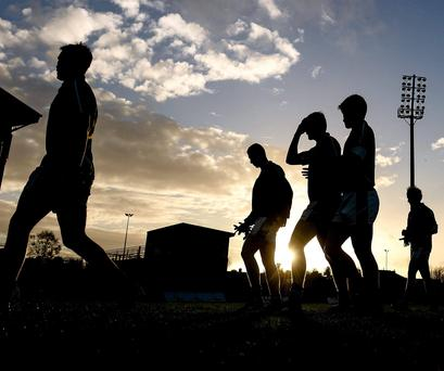 Targets: Meath players, whose cars were attacked by thieves, walk off the pitch at the end of a recent game Picture: David Maher / SPORTSFILE