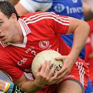 CHALLENGING: Cathal McCarron of Tyrone in full flight against Monaghan in the Ulster Championship Final in 2010