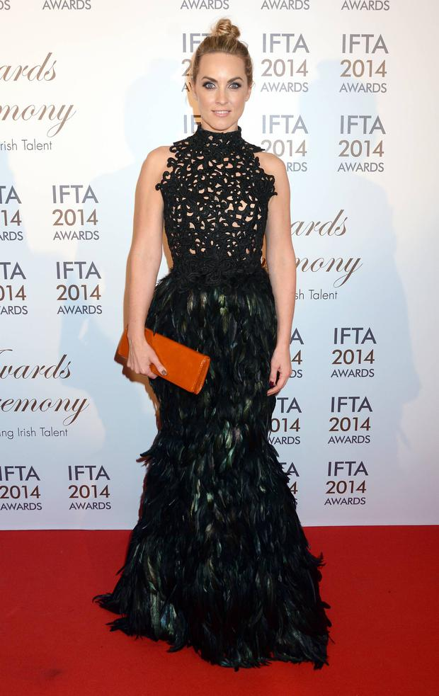 Kathryn Thomas in Umit Kutluk at the 2014 IFTAs