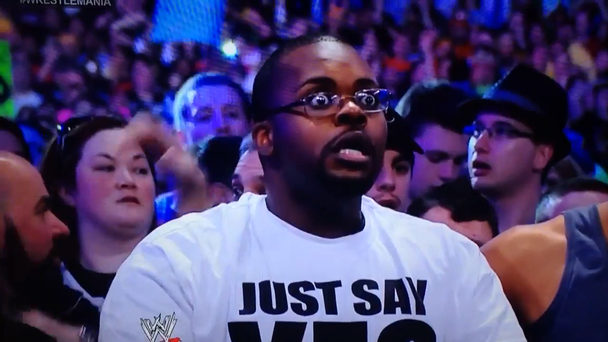 A fan left stunned by Brock Lesner's win over the Undertaker