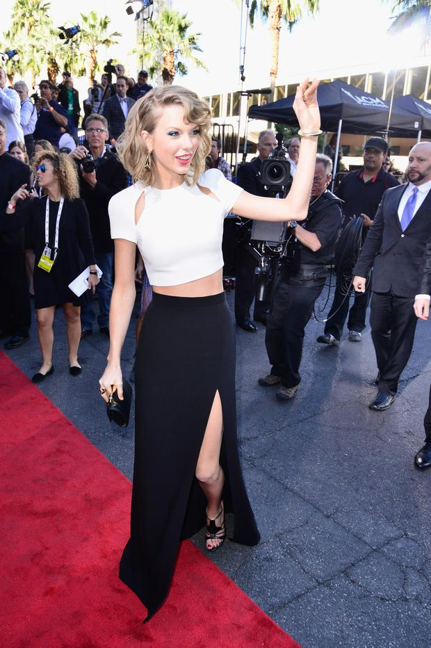Singer/songwriter Taylor Swift attends the 49th Annual Academy Of Country Music Awards at the MGM Grand Garden Arena