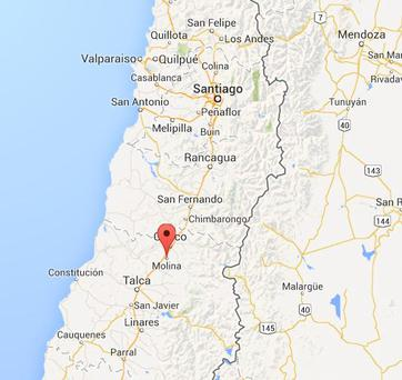 The crime took place in the city of Molina, some 130 miles (210 kilometres) south of the Chilean capital Santiago. Photo: Google Maps
