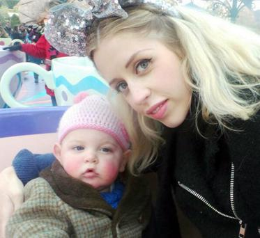 Peaches Geldof and baby Astala