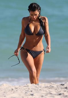 Kim Kardashian snapped in Miami, Florida in 2008. Credit: INFphoto.com