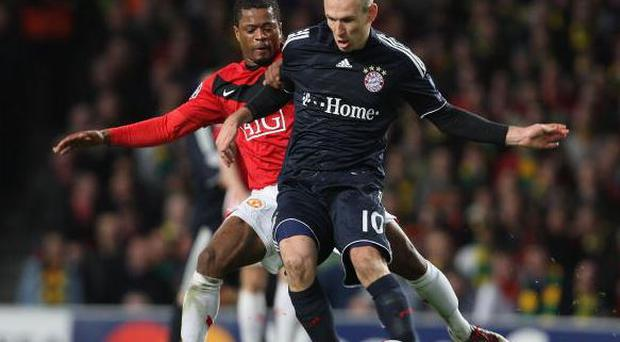 Patrice Evra and Arjen Robben will once again cross paths
