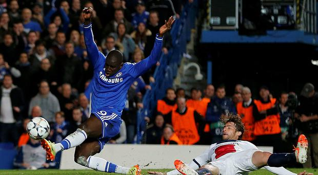 Chelsea's Demba Ba scores the all-important goal last night