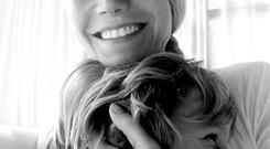 Gwyneth with son Moses. Picture: Gwyneth Paltrow/Twitter