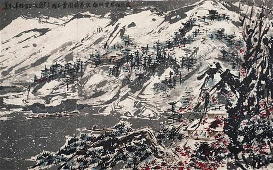 "Snowy Mountain"" by the Chinese artist Cui Ruzhuo"