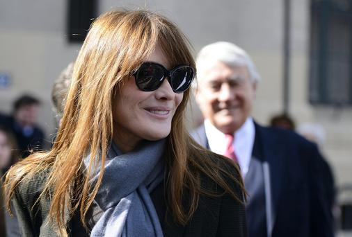 Carla Bruni-Sarkozy say the public have a right to know about Francois Hollande's private life because 'public money' was involved