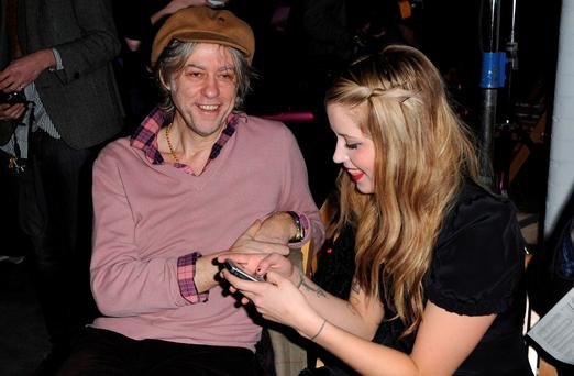 Bob Geldof with his daughter Peaches