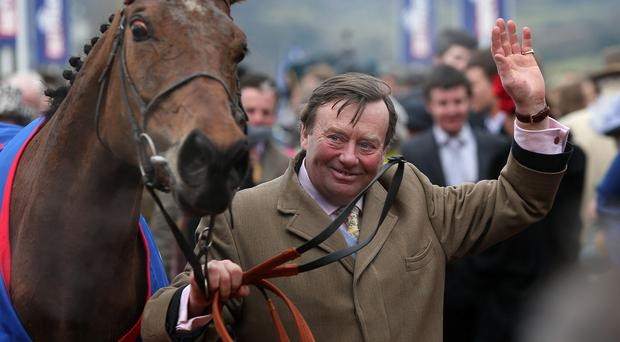 Trainer Nicky Henderson with his horse Bobs Worth