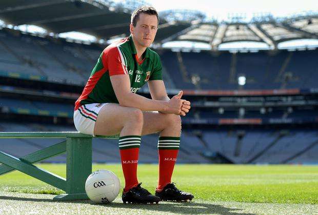Mayo's Cillian O'Connor at Croke Park yesterday