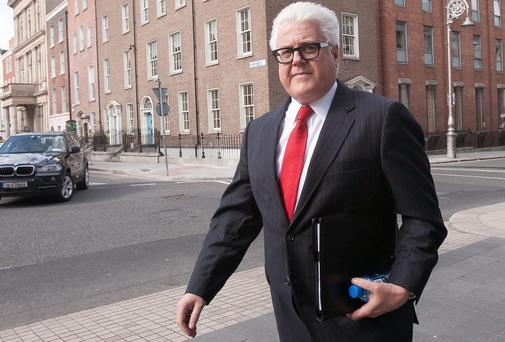 Ulster Bank chief executive Jim Brown arrives for a Committee on Finance, Public Expenditure and Reform hearing on mortgage arrears at Leinster House earlier this week