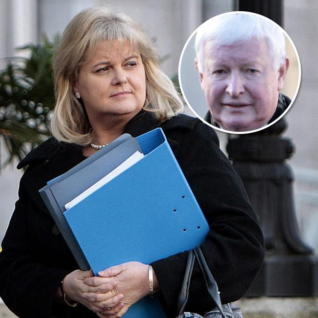 Angela Kerins and (inset) Frank Flannery