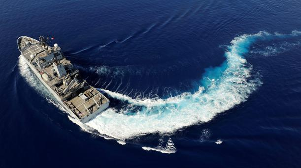 HMS Echo, arriving in the area of the southern Indian Ocean where