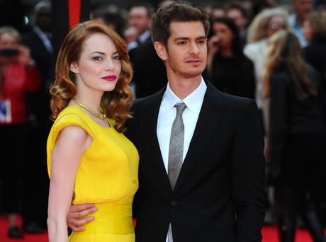 Emma Stone and Andrew Garfield attend the World Premiere of