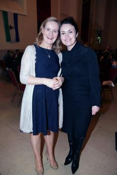 Maria Mahon, Chair Camara and Fiona O'Carroll, MD Irish Independent Digital at a dinner hosted by Camara in aid of Ethiopia at Blackhall Place, Dublin. Picture: Arthur Carron