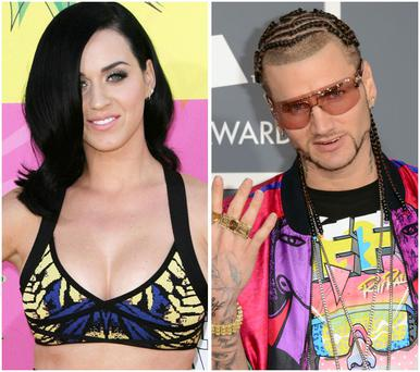 Katy Perry (left) and Riff Raff (right) enjoyed a date together