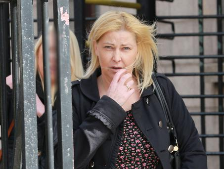Jacqueline Dunne of Verscoyle Avenue, Saggart Abbey, Dublin leaving court today. Photo: Collins