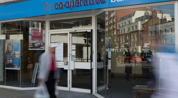 A branch of the Co-operative Bank in central London. Photo: AP