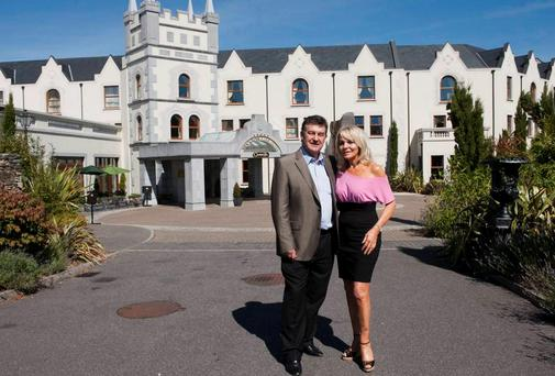 Bill Cullen and Jackie Lavin pictured at The Muckross Park Hotel in 2012. Photo: Don MacMonagle