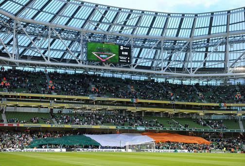 The Aviva Stadium in Dublin could host lucrative games in the 2020 soccer European Championships. Photo: Sportsfile